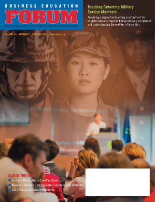 Business Education Forum - Volume 69, Number 1, October 2014