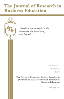 The Journal of Research in Business Education - Volume 57, Number 2, 2016
