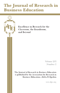 The Journal of Research in Business Education - Volume LVI, Number 2, 2015