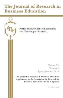 The Journal of Research in Business Education - Volume LV, Number1, Spring/ Summer 2013