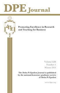 The Journal of Research in Business Education - Volume LIII, Number 1, Winter 2011