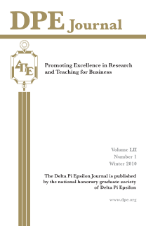 The Journal of Research in Business Education - Volume LII, Number 1, Winter 2010