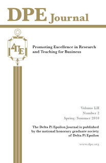 The Journal of Research in Business Education - Volume LII, Number 2, Spring/Summer 2010
