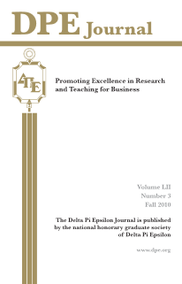 The Journal of Research in Business Education - Volume LII, Number 3, Fall 2010
