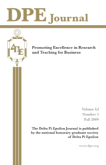 The Journal of Research in Business Education - Volume LI, Number 3, Fall 2009