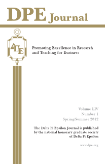 The Journal of Research in Business Education - Volume LIV, Number 1, Spring/ Summer 2012