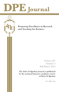 The Journal of Research in Business Education - Volume LIV, Number 2, Fall/ Winter 2012